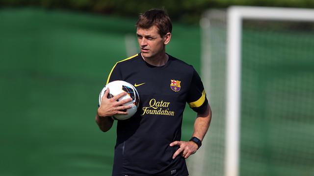 El Club expresa su más sentido pésame por el adiós de Tito Vilanova , que ha fallecido hoy en Barcelona a la edad de 45 años. [FOTO: FCBarcelona]