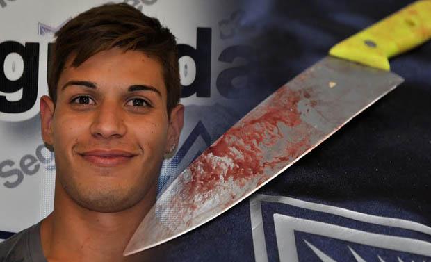 Cuando los agentes llegaron al lugar, vieron a un tipo golpeando a otro que presentaba una herida, producida por arma punzocortante, por lo que fue detenido.