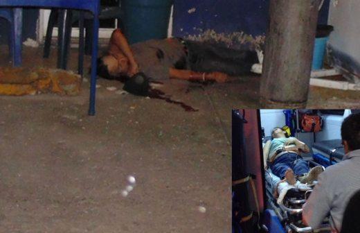 En el lugar fueron localizadas dos personas heridas de bala, destacando que en ambos casos, son lesiones de menor consideración.