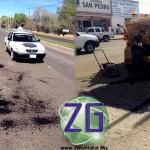 #MEOQUI: Reanuda Obras Públicas trabajos de bacheo asfálticos en el centro y carretera a Delicias