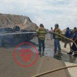 ? CHIHUAHUA: Muere calcinado tras volcadura